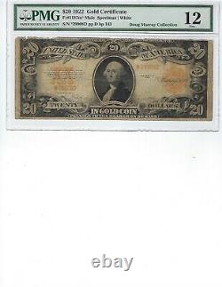 1922 $20 Gold Certificate FR1187M PMG 12 Fine! Spellman/White, Rough Edge
