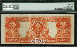 1922 $20 Gold Certificate FR-1187 Graded PMG 35 Choice Very Fine