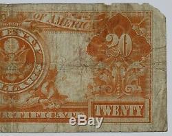 1922 $20 Gold Certificate Fr#1187 Net Fine Missing Corner/tear (919)