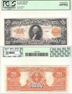 1922 $20 Gold Certificate Fr 1187 PCGS Extremely Fine-45 PPQ