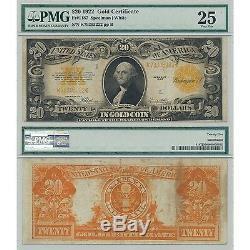 1922 $20 Gold Certificate Fr#1187 PMG Certified Very Fine 25 VF25 Washington