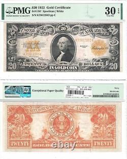 1922 $20 Gold Certificate Fr 1187 PMG Very Fine-30 EPQ