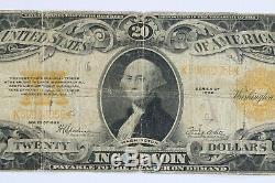 1922 $20 Gold Certificate Fr#1187 Vg / F Very Good To Fine (059)