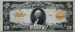 1922 $20 Gold Certificate Large Note Scarce -Extra Fine- Speelman/White 171K