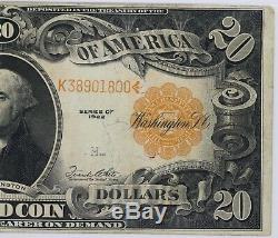 1922 $20 Gold Certificate Note Fr#1187 Pmg Very Fine 30 (800)