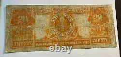 1922 $20 Gold Certificate Original Fine Best Price on Ebay CHN
