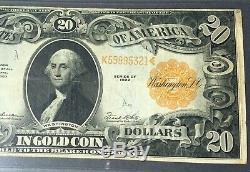 1922 $20 Gold Certificate PMG 25 Very Fine Fr 1187 P-137