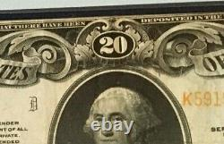 1922 $20 Gold Certificate Pmg25 Very Fine, Speelman/white, 3752