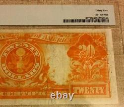 1922 $20 Gold Certificate Pmg35 Choice Very Fine, Speelman/white, Beautiful 3671