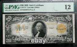 1922 $20 Gold Certificate! Pmg 12 Fine Paper Pull Affordable