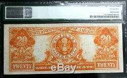 1922 $20 Gold Certificate Pmg 25 Vry Fine Free Ship! Bright Clean Note