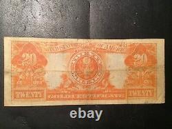 1922 $20 Gold Certificate Very Fine. Pleasing Original Problem Free