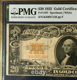 1922 $20 Large Gold Certificate Pmg 25 Epq Very Fine