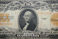 1922 $20 Large Size Gold Certificate Yellow Seal Grading Very Fine (JENA-274)