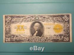 1922 $20 Twenty Dollar Gold Certificate Note. Choice fine