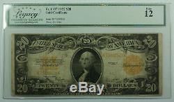 1922 $20 Twenty Dollar Gold Certificate Note Fr. 1187 Legacy Fine 12