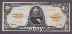 1922 $50 BEAUTIFUL CRISP Very Fine+/Extra Fine'GOLD COIN' CERTIFICATE