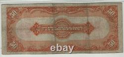 1922 $50 Gold Certificate Fr. 1200 Large S/n Pmg Certified Very Fine Vf 20(516)