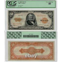1922 $50 Gold Certificate Fr#1200 PCGS Currency Extremely Fine 40