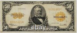 1922 $50 Gold Certificate Large Note Scarce -Very Fine- Speelman/White 358B