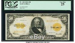 1922 $50 Gold Certificate Pcgs Very Fine 25. (problem Free)