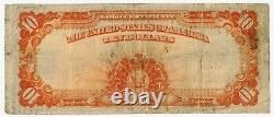 1922 FR #1173 $10 Ten Dollar Hillegas Gold Certificate Grading FINE 2492