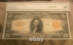 1922 FR -1187, $20 gold certificate, very fine / near extra fine