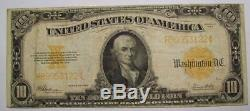 1922 F TEN Dollar GOLD CERTIFICATE U. S. Large Note Speelman / White F #32B94