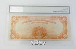 1922 US Mint $10 Gold Certificate Paper Note Certified PMG Very Fine 30