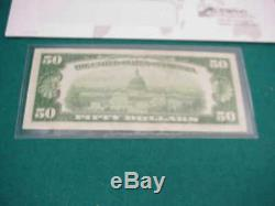 1928A $50.00 Federal reserve Note Very fine