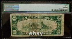1928 $10.00 GOLD CERTIFICATE PMG VERY FINE 20 pp F #A65790588A