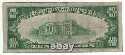 1928 $10 Gold Certificate Currency Note Circulated Problem Free Very Fine (601a)