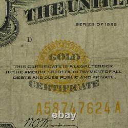 1928 $10 Gold Certificate Fine SKU #3938