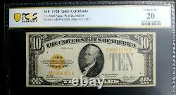 1928 $10 Gold Certificate Fr. 2400 PCGS 20 VERY FINE WOODS MELLON
