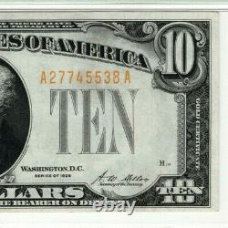 1928 $10 Gold Certificate Note Fr. 2400 Aa Block Pmg Extra Fine Ef Xf 40 (538a)