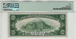 1928 $10 Gold Certificate Note Fr. 2400 Aa Block Pmg Extra Fine Ef Xf 40 (947a)