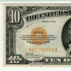 1928 $10 Gold Certificate Note Fr. 2400 Aa Block Pmg Extra Fine Xf 45 (954a)