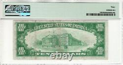 1928 $10 Gold Certificate Note Fr. 2400 Aa Block Pmg Very Fine Vf 30 (925a)