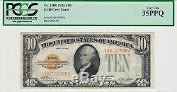 1928 $10 Gold Certificate PCGS 35 PPQ Very Fine Ten Dollars Vintage Classic Note