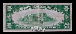 1928 $10 Gold Certificate Paper Money Note Gold Seal Very Fine #61654a