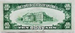1928 $10 Gold Certificate Scarce -Extra Fine- Woods/Mellon 609A