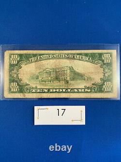 1928 $10 Gold Certificate US Small Note in Fine Condition