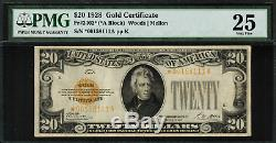 1928 $20 Gold Certificate FR-2402 Star Note Graded MG 25 Very Fine