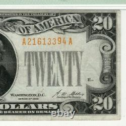 1928 $20 Gold Certificate Note Fr. 2402 Aa Block Pmg Very Fine Vf 30 (394a)