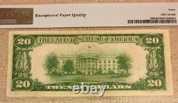 1928 $20 Gold Certificate Pmg 40 Epq Extremely Fine, Woods/mellon, 3694