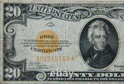 1928 $20 Gold Certificate Scarce -Very Fine- 141A