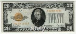 1928 $20 Gold Certificate Star Note Fr. 2402 Aa Block Pmg Very Fine Vf 25 (858a)