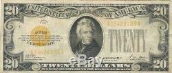 1928 $20 Gold Certificate Very Attractive Problem-free Very Fine Note
