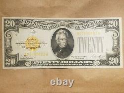 1928 $20 Gold Certificate Woods Mellon FR 2402 EXTRA FINE / ABOUT UNC AU XF