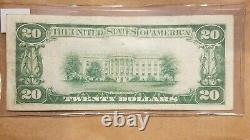 1928 $20 Gold Certificate Woods Mellon FR 2402 TWENTY DOLLARS VERY FINE VF +